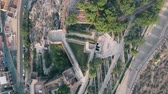 citadel : Aerial top down view of Alcazaba of Almeria, an ancient fortress in southern Spain Stock Footage