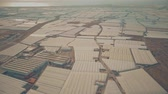 hotbed : Aerial shot of greenhouse farms near Almeria, Spain Stock Footage