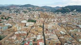 keskeny : Aerial view of Granada involving famous Cathedral or Catedral de Granada, Spain Stock mozgókép