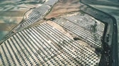 renewable : Aerial shot of solar power station