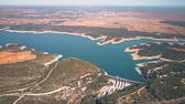 nesil : The dam of hydroelectric power plant in Spain, aerial view