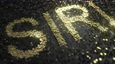 cena : Sirius XM Holdings SIRI stock ticker made of gold numbers, conceptual editorial animation