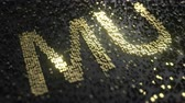dalgalanma : Micron Technology MU stock ticker made of gold numbers, conceptual editorial animation Stok Video