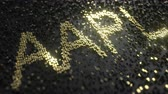 купить : Apple Inc AAPL stock ticker made of gold numbers, conceptual editorial animation
