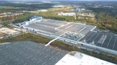 структура : POZNAN, POLAND - OCTOBER 20, 2018. Aerial view of the Bridgestone tyre production plant
