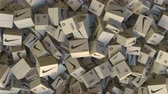 переработаны : Cartons with NIKE logo. Editorial animation Стоковые видеозаписи