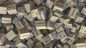 переработаны : Pile of cartons with TOSHIBA logo. Editorial animation