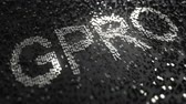 platina : GoPro GPRO stock ticker made of silver numbers, editorial animation