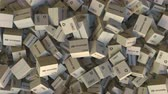 доставлять : Pile of cartons with HYUNDAI logo. Editorial animation
