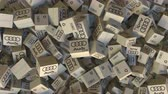 render : Cartons with AUDI logo. Editorial animation Stok Video