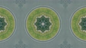 маршрут : Kaleidoscope effect of aerial top down view of roundabout road traffic in Barcelona, Spain