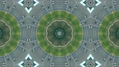 movimentar se : Kaleidoscope effect of aerial view of roundabout traffic in Barcelona, Plaza de Espana