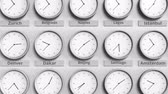 utc : Focus on the clock showing Beijing, China time. 3D animation Stock Footage
