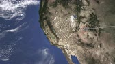 sf : Commercial plane arrives to San Francisco, United States, 3D animation