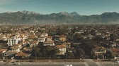 toscana : Aerial view of Forte dei Marmi, one of the major destinations which attract the Italian upper class. Italy