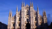 Time lapse of Duomo di Milano or Milan Cathedral, main landmark in the centre of the city. Italy 무비클립