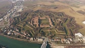 bastião : Aerial shot of star shaped Citadel or Cittadella of Alessandria. Piedmont, Italy Vídeos