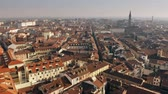 Aerial view of central part of Alessandria. Piedmont, Italy 무비클립