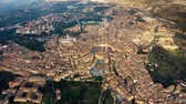 High altitude aerial shot of the city of Siena. Tuscany, Italy Wideo