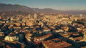 Aerial view of Terni cityscape in the evening. Umbria, Italy