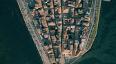 ziegeldach : Aerial top down view of town of Orbetello. Tuscany, Italy