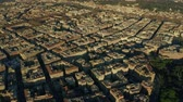 balcony view : Aerial view of cityscape of Rome centre, Italy Stock Footage