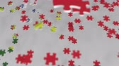 vlag portugal : Flag of Portugal being made with jigsaw puzzle pieces. Portuguese problem solution conceptual 3D animation