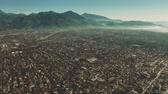 caro : Aerial view of Forte dei Marmi and mountains in haze, Italy Stock Footage