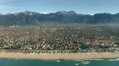 toscana : Aerial view of Forte dei Marmi seafront and mountains. Tuscany, Italy