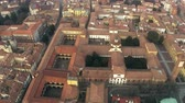 lombardia : Aerial view of old houses and streets in Pavia, Italy