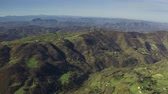 emilia : Aerial view of beautiful hilly landscape of Emilia-Romagna region in Italy Stock Footage