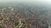 sloping : Aerial view of Alessandria, Italy