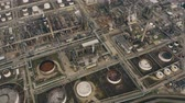 atık : Aerial down view of a big chemical plant Stok Video