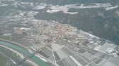 grafikonok : Aerial view of the town of Salorno, northern Italy