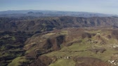 emilia : Aerial shot of hilly landscape of Emilia-Romagna region, Italy