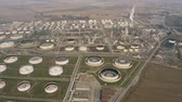 tank : Aerial shot of a big oil refinery