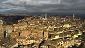 sloping : Aerial view of Siena centre. Tuscany, Italy