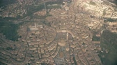 sloping : Aerial shot of Siena. Tuscany, Italy