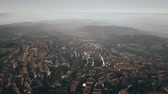 umbrie : Aerial view of Perugia and surrounding landscape of Umbria, Italy Dostupné videozáznamy