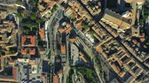 umbrie : Aerial top down view of houses and streets in Perugia, Italy