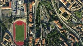 umbrie : Aerial top down view of Perugia. Italy
