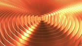 konsantrasyon : Rotating shiny copper coil. Loopable 3D animation