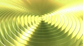 Spinning shiny golden coil. Loopable 3D animation
