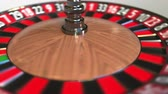 olasılık : Casino roulette wheel ball hits 26 twenty-six black. 3D animation