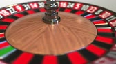 olasılık : Casino roulette wheel ball hits 35 thirty-five black. 3D animation