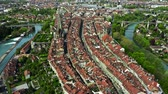 overview : Aerial view of the Old City of Bern, Switzerland