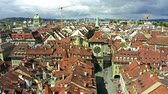 zolder : Aerial view of famous Zytglogge or Clock Tower in Old City of Bern, Switzerland Stockvideo