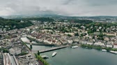 townscape : Aerial view of Lucerne and the River Reuss, Switzerland
