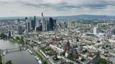 a major : Aerial establishing shot of Frankfurt am Main. Germany