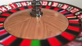 olasılık : Casino roulette wheel ball hits 29 twenty-nine black. 3D animation